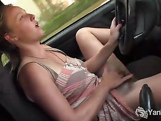 Yanks Aden Rose Cums in the Car