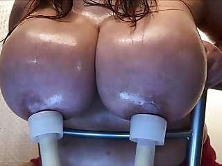 Hucow milking tits