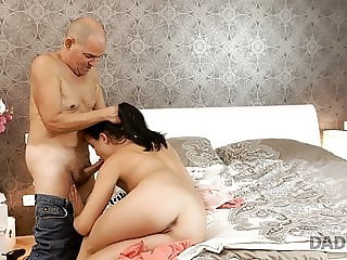 DADDY4K. Dolly Diore makes love to boyfriends dad