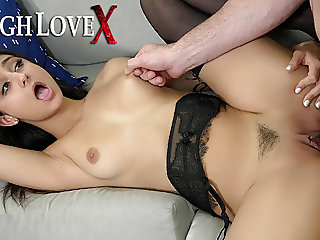 TOUGHLOVEX Eliza Ibarra gets fucked by a real man