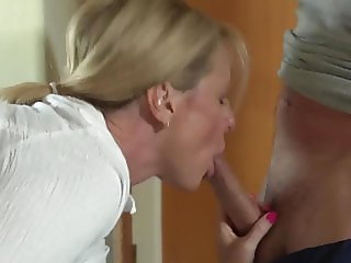 Mom can't move and sons fuck her - SO EXCITING!