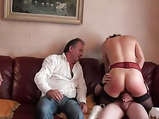 Mature French Slut Gangbanged