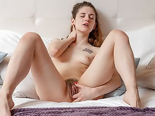Innocent Teen Masturbating Her Sinful Hairy Snatch