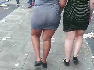 2 Phat Ass Jiggly Wobbly Booty Teens - Tight Dress, Thick AF