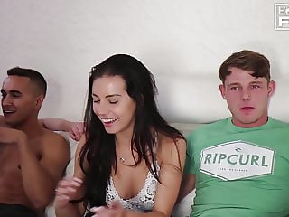 Dudes Fucks SEXY ASS girl and Cums TWICE! Once way to EARLY!