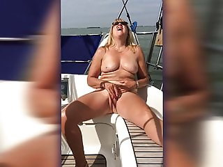 Big Titted Boat Masturbation (rotated)