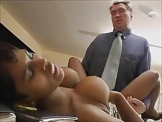 Ugly black cleaning slut does her best to integrate