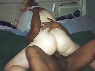 Amateur Wife BBC Riding Cowgirl Big Black Cock Neighbor pt1b