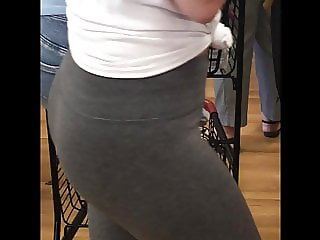 Amazing Teen Booty Tight Grey Leggings