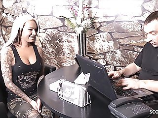 German Huge Tits Teen MilaElaine Fuck old Guy Agent for Cash