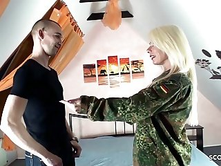 German Mom Suprise Step Son with Fuck after Come home army