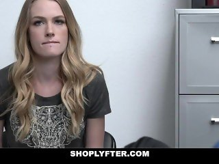 ShopLyfter - Petite Blonde Sucks Off Security To Get Out Of Jail