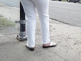 Candid Bus stop lady