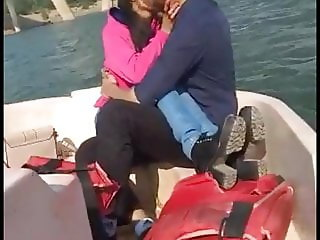Couple Romance on boat.fucking & taking cum on face.