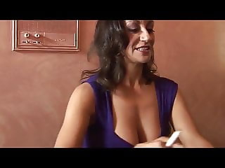 Flirt on bar - big boobs milf fucked
