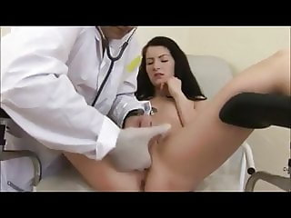 Hot young Galina fucked by dirty old doctor