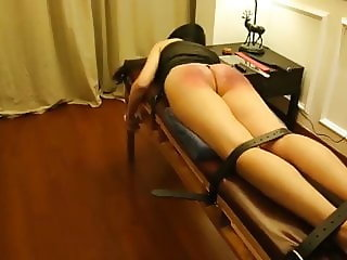 Chinese girl hard caning