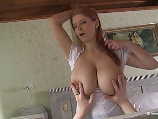 Katherina gets boobs milked