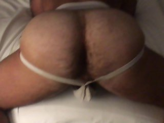 JUSTINS MUSCLED BUBBLE BUTT WHITE JOCK DAD TAKES MY BLACK DICK UP HIS ASS