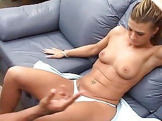 italia christie teased by big cock strips and gets stretched