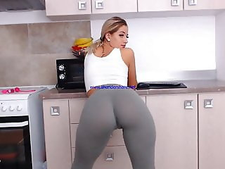 girl teasing with hot legging
