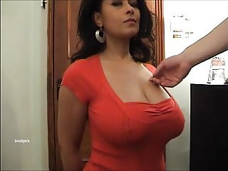 Big tits Danica Collins as her tits groped.
