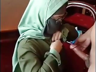 Mask hijab HJ DOGGY CUM on hijab - FULL IN DESCRIPTION