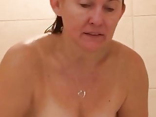 Sexy wife in the shower
