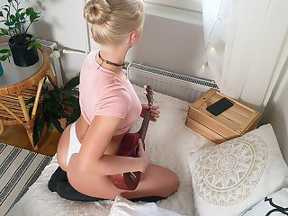 Ukulele Training Turns Into ANAL Training and Squirting - Miss Impulse