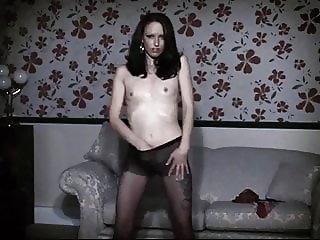 SWEET DREAMS - skinny British goth striptease dance