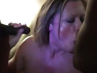 Watching My Jersey Mature Wife in AC Suck Two BBCs