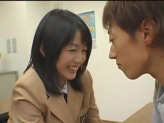 Nana Nanami Japanese School Girl Sex Blowjob 3some Cum Face