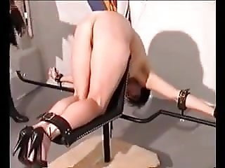 Sub slut meets the cane