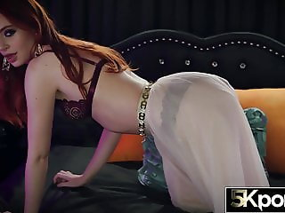 5KPORN - Fiery Redhead Maya Kendrick Filled With Jizz
