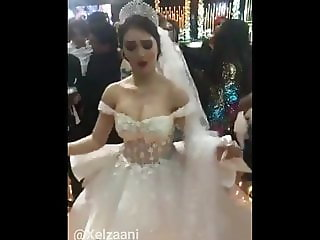 Arab Egyptian Hot Bride - wife Salma Ahmed flashing her tits