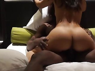 Black Lover Fucks Sexy Cuckold Wife in Hotel (interracial)
