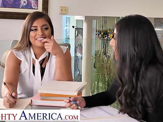 Naughty America - Ella Knox and Violet Myers Fuck their boss