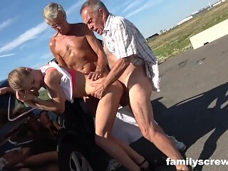 Grandpa, Dad and Son Need Their Dicks Sucked Badly