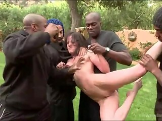Shatter Me - White wife go outside, catch by 5 BBC, gang bang release slut