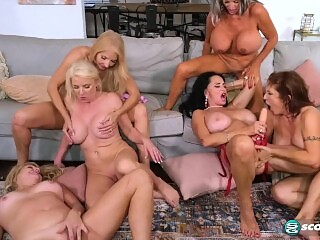 Granny Fuck Club - The first-ever six-way granny orgy