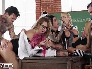 WickedPictures - Classroom Orgy Led By Teacher