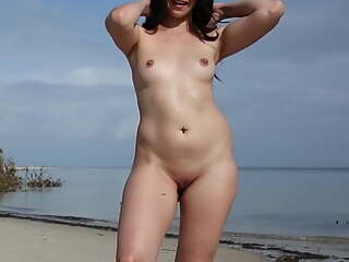 Naked woman talking