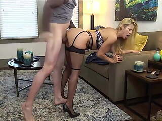 bj fucked in lingerie