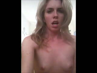 Horny Emma Bates and Orgasms Selfie