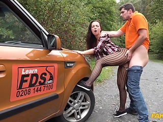 Kristy Black & Kristof Cale in Hot learner fucked doggy style - FakeHub