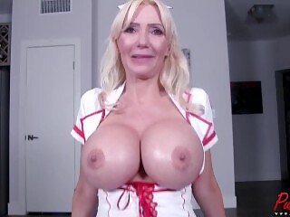 BTS interview with busty blonde MILF Victoria Lobov