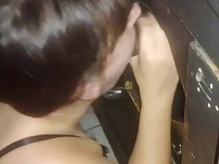 Gloryhole Wife Fucked By Black Cock