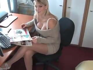 Sexy in office big tits