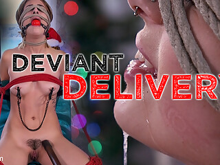 Kristen Scott in Deviant Delivery: Kristen Scott Gets Holiday Torment at Home - HogTied