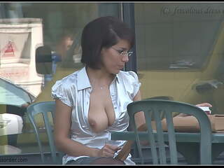 secretary - tits out in public